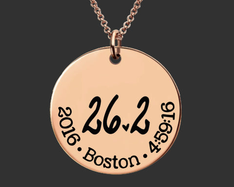 26.2 Necklace Rose Gold | Marathon Necklace