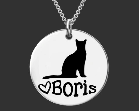 Russian Blue Cat Personalized Jewelry