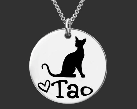 Siamese Cat Personalized Necklace