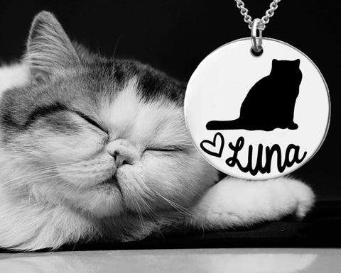 Exotic Shorthair Cat Personalized Necklace