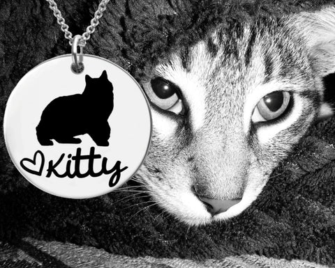Manx Cat Personalized Necklace