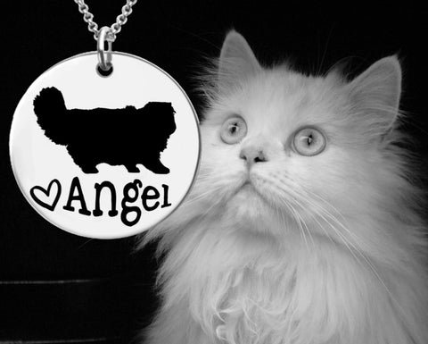 Persian Cat Personalized Necklace