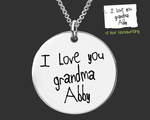 Your Own Handwriting Necklace | Gift for Grandma