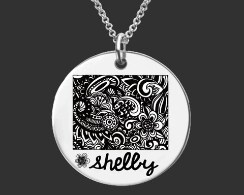 Wyoming Personalized Necklace | Wyoming State
