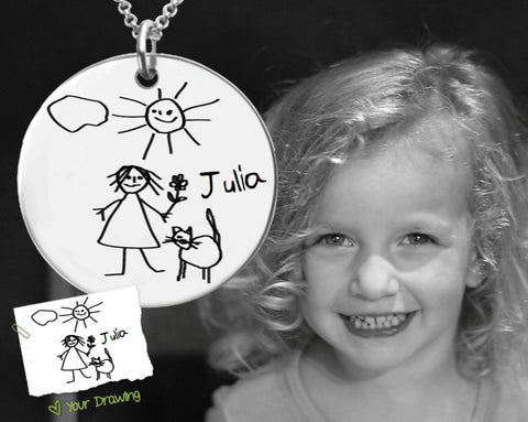 Design Your Own Custom Drawing Necklace | Mother's Day Gift
