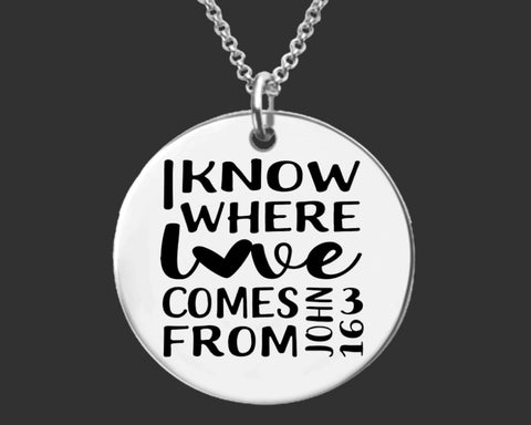 John 3:16 Necklace | Christian Jewelry