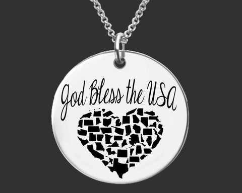 God Bless the USA Necklace