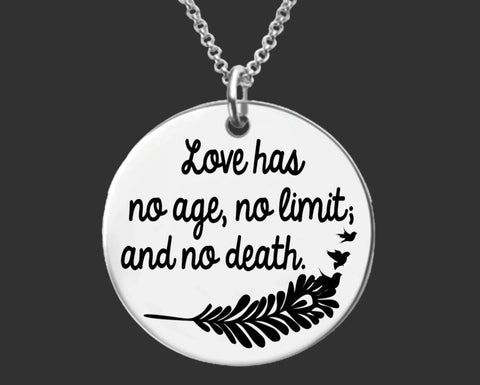 Love Has No Age Memorial Necklace