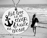 His Love Is As Deep & Wide As The Sea Necklace