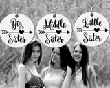 Big Sister Middle Sister Littler Sister Necklace