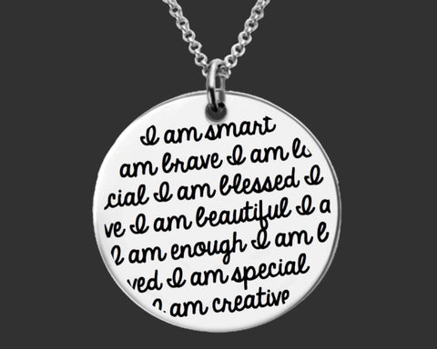 I Am Enough Necklace | Inspirational Gift