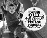 I Chase Toddlers Necklace | Gift for Mom
