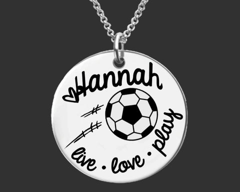 Soccer Personalized Necklace