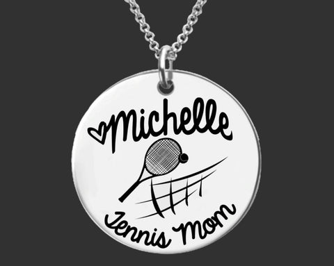 Tennis Mom Personalized Necklace