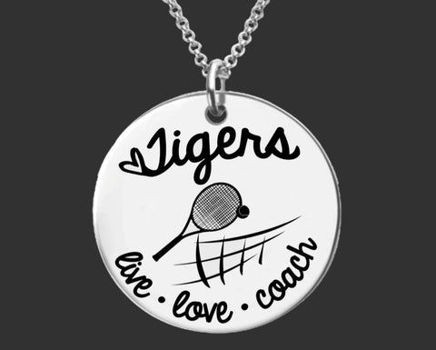 Tennis Coach Personalized Necklace