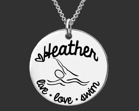 Swim Personalized Necklace