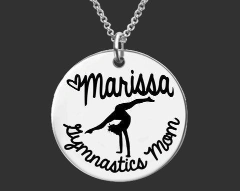 Gymnastics Mom Personalized Necklace