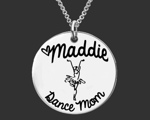 Dance Mom Personalized Necklace