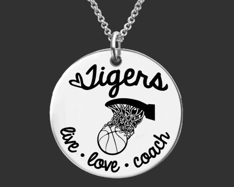 Basketball Coach Personalized Necklace