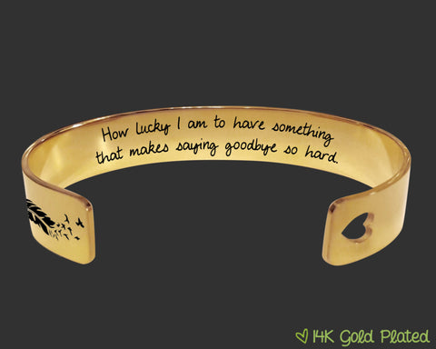 How Lucky I Am Memory Gold Bracelet