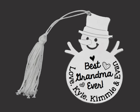 Best Grandma Ever Personalized Christmas Ornament