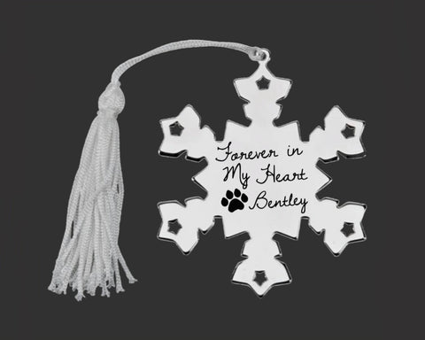 Pet Memory Personalized Snowflake Ornament