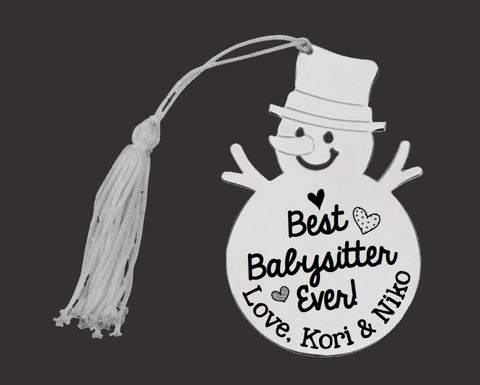 Best Babysitter Ever Personalized Christmas Ornament
