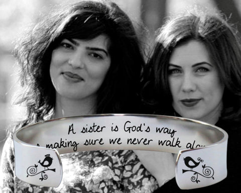 A sister is God's way Bracelet | Gift for Sister
