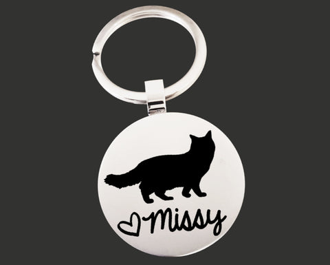 Cat Personalized Keychain