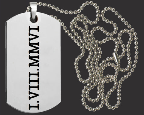11th Anniversary Necklace | Custom Dog Tag