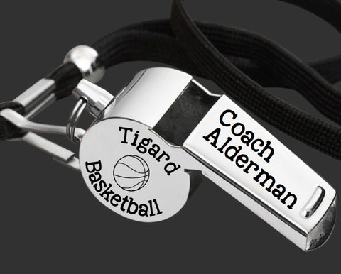 Custom Personalized Coach Whistle | Gift for Coach