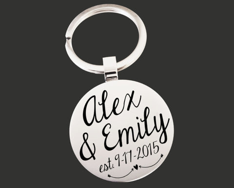 Anniversary Personalized Keychain