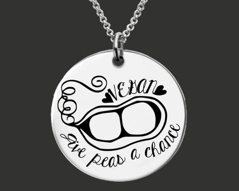 Vegan Give Peas a Chance Necklace