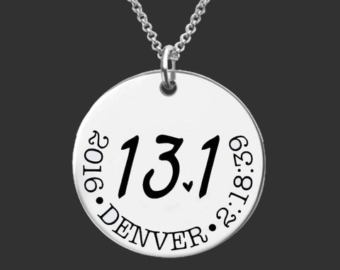 13.1 Necklace | Half Marathon Jewelry