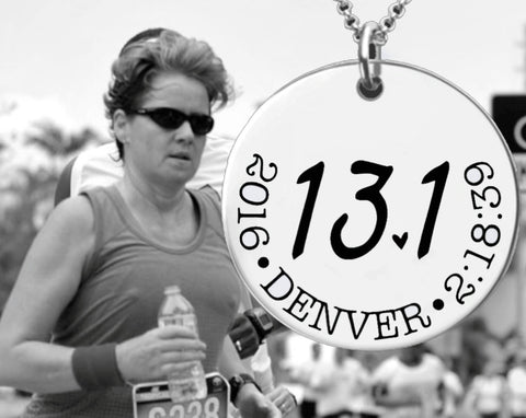 13.1 Necklace | Half Marathon Necklace