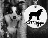 Border Collie Personalized Necklace | Dog Necklace