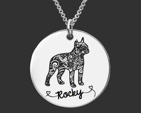 Boston Terrier Personalized Necklace