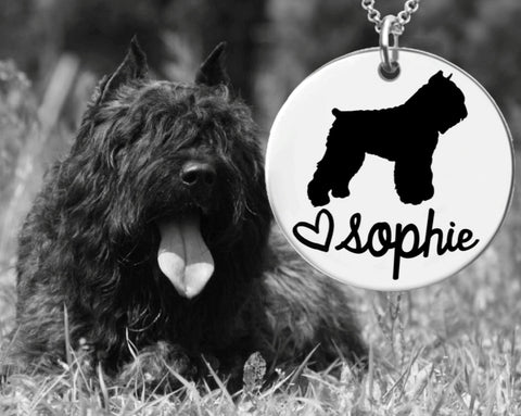 Bouvier Des Flandres Personalized Necklace