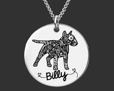 Bull Terrier Personalized Necklace