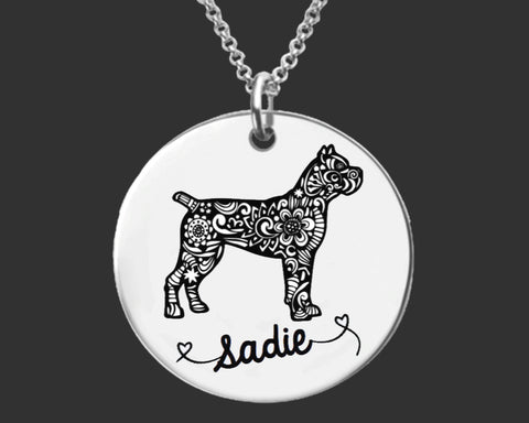 Cane Corso Personalized Necklace
