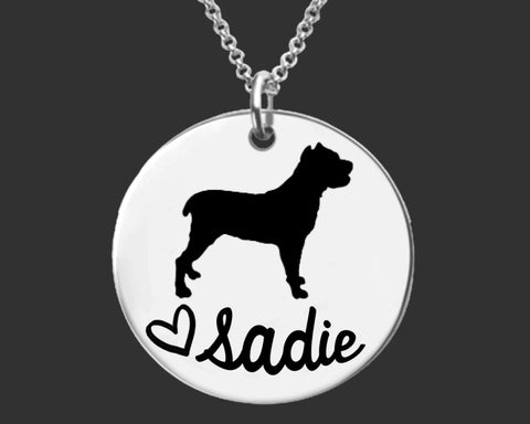 Cane Corso Dog Personalized Necklace