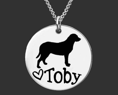 Chesapeake Bay Retriever Personalized Necklace