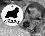 Cocker Spaniel Personalized Necklace