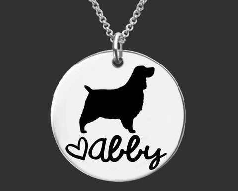 English Springer Spaniel Personalized Necklace