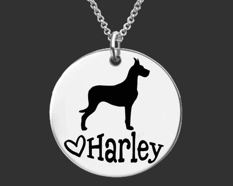 Great Dane Personalized Necklace