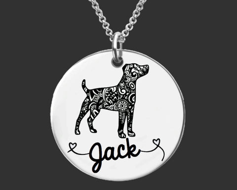 Jack Russell Terrier Personalized Necklace