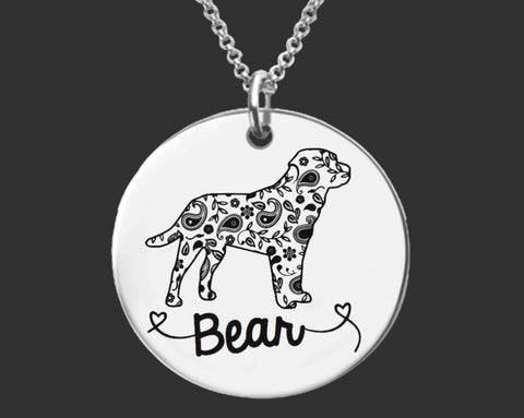 Labrador Retriever Personalized Necklace