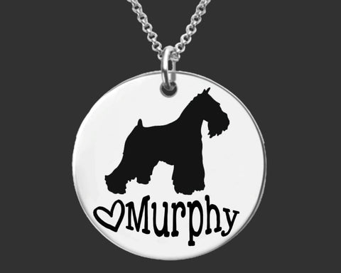 Miniature Schnauzer Personalized Necklace