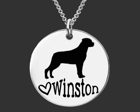 Rottweiler Dog Personalized Necklace