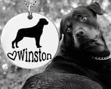 Rottweiler Personalized Necklace